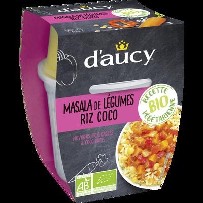 Masala de légumes riz coco bio D'AUCY, bi cup de 300g