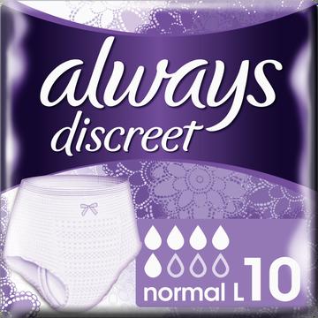 Always Sous-vêtements Pour Incontinence Normal Always, Taille L, X10