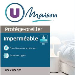 PROTEGE OREILLER  IMPERMEABLE ANTI-ACARIENS 45X70CM U MAISON