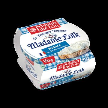 Paysan Breton Fromage Fouetté Pasteurisé Nature Mme Loik Au Sel De Guérande Paysan Breton, 24%mg, 180g