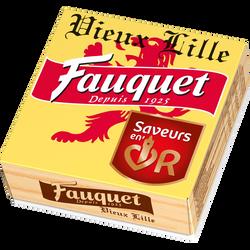 Fromage au lait pasteurisé Quart vieux Lille FAUQUET, 24% de MG, 200g