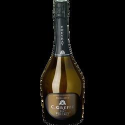 Vin blanc pétillant brut C.Greffe Excellence VOUVRAY, 75cl