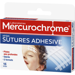 Pansements sutures adhesives MERCUROCHROME