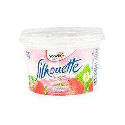 Fromage blanc maigre aux fruits fraise Silhouette YOPLAIT, 0.2%MG, pot de 500g