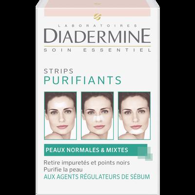 Strips purifiants pour peaux normales et mixtes Demo Fraîcheur DIADERMINE, x6