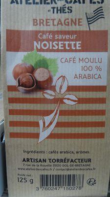 café moulu arome noisette 125gr atelier des cafés