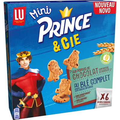 Biscuits mini choco au lait PRINCE, 147g
