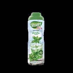 Boisson concentrée aux extraits de menthe à diluer avec édulcorants TEISSEIRE, bidon de 60cl