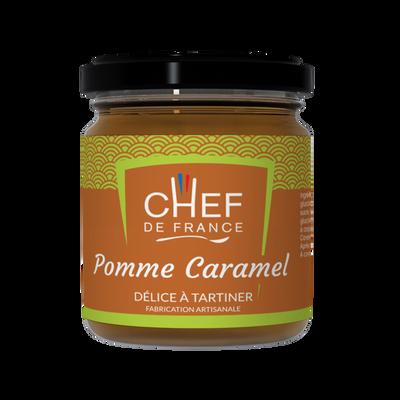Délice à tartiner pomme caramel CHEF DE FRANCE, pot de 120g