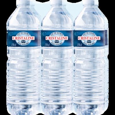 Eau de source CRISTALINE, 6 bouteilles de 1,5l
