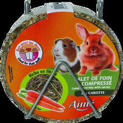 Palets foin compressé carotte, AIME, 240g