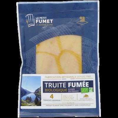 Truite bio fumée élevée en France FUMET DES DOMBES, 130g