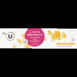 Crème dépilatoire pour peaux sensibles senteur fleur blanche BY U, 200ml