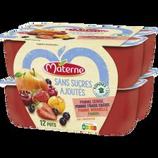 Materne Dessert Frt Ss Ajoutés Frts Rges Les Inédits  12x100gdessert Frt Ss Ajoutés Frts Rges Les Inédits  12x100g