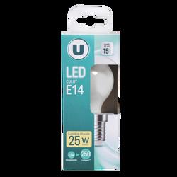 Led U, Mini, ronde, 25w, e14, opaque, lumière chaude