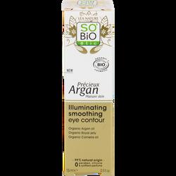 Soin yeux lumière revitalisant peaux matures précieux argan SOBIO 15ml