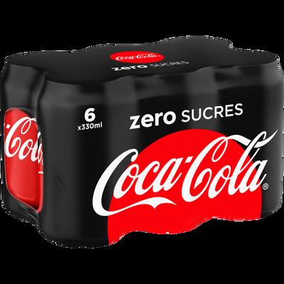 COCA-COLA zéro, 6x33cl