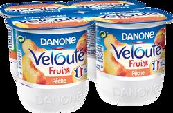 Yaourts brassés aux fruits mixés pêches VELOUTE FRUIX DANONE, 4x125g