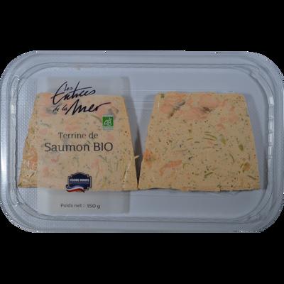 Terrine de saumon bio, transformé en France, barquette 150g