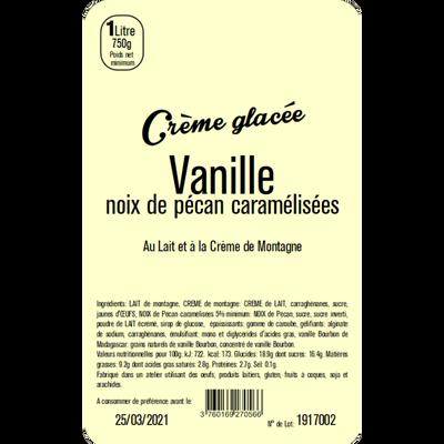 Crème glacée vanille noix pécan LA TURBINE A SAVEURS, 1 litre