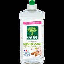 Liquide vaisselle à l'amande douce et fleur d'abricotiers L'ARBRE VERT, flacon de 750ml