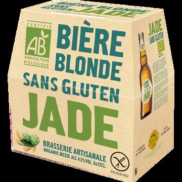 Jade Bière Blonde Bio Sans Gluten Jade, 4°5, 6x25cl