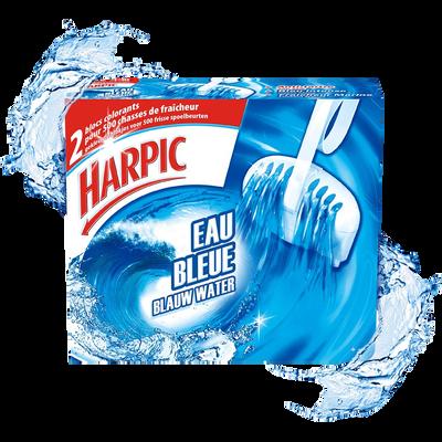Bloc cuvette Eau Bleue HARPIC, 2 blocs