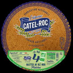 4 Galettes au blé Noir Fraiches BIO, CATEL ROC, 250g