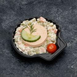 Coquille avec médaillon de saumon, 140g