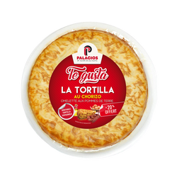 Tortilla espagnola pomme de terre au chorizo TE GUSTA 500g+20% offert