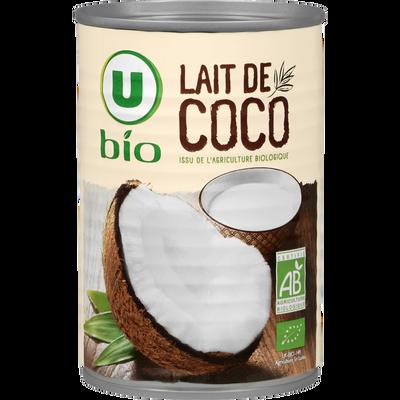 Lait de coco issu de l'agriculture biologique U BIO, brique de 400 ml