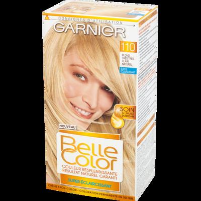 Coloration permanente blond très très clair naturel n°110 BELLE COLOR