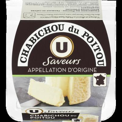 Chabichou du Poitou AOP au lait de chèvre pasteurisé U SAVEURS, 25 %MG, 150g