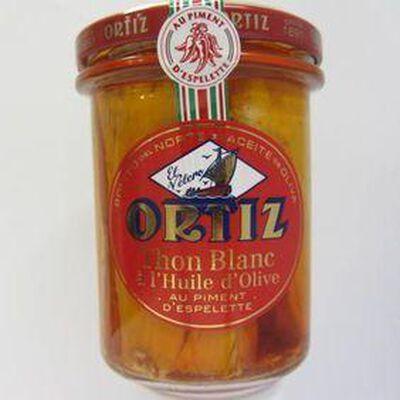 Thon blanc Germon à l'huile d'olive au piment d'Espelette ORTIZ,220g