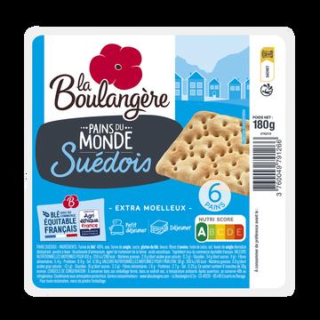 La Boulangère Pain Suédois La Boulangere, 6 Pièces, 180g