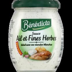 Sauce ail et fines herbes BENEDICTA, bocal de 260g