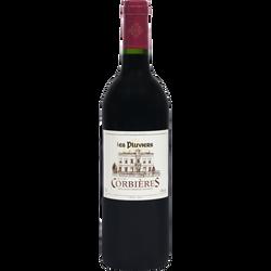 Vin rouge AOP Corbières les pluviers U, 75cl