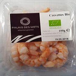CREVETTES BIO DÉCORTIQUÉES 100G - PALAIS DES METS
