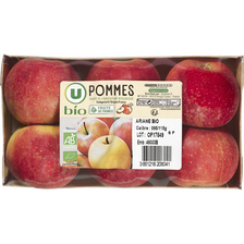 Pomme Gala, U BIO, calibre 95/115, France, barquette 6 fruits