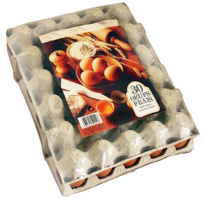 Oeufs frais de poules élevées en cage moyen BABY COQUE, x30