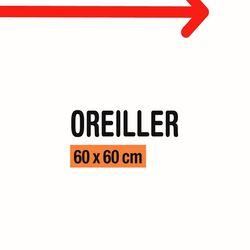 OREILLER 60X60CM MARQUE BLANCHE