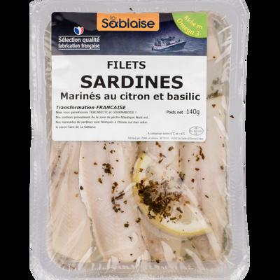 Sardines au citron et au basilic, LA SABLAISE, France, 140g