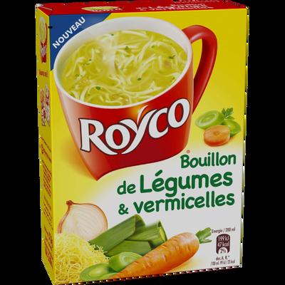 Bouillon Minute Soup de légumes & vermicelles ROYCO, 38g, 60cl