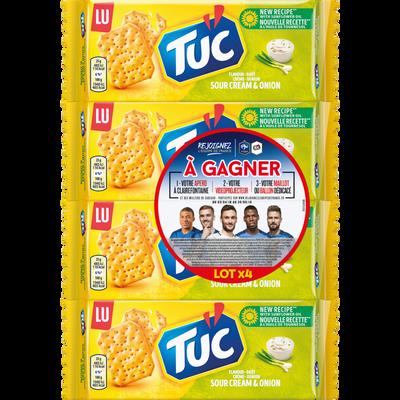 Crackers crème et oignon Lu TUC, 4x100g