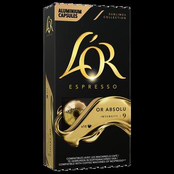 Maison du Café Café Capsules L'or Espresso Or Absolu X10