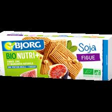 Goûter bio soja figue BJORG, 4x4 biscuits, 240g