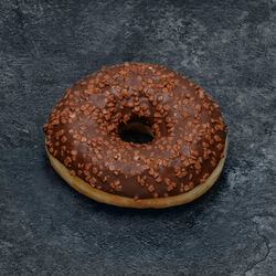 Donut décor chocolat décongelé, 4 pièces, 220g