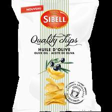 Quality chips cuites au chaudrons à l'huile d'olive SIBELL, sachet de120g