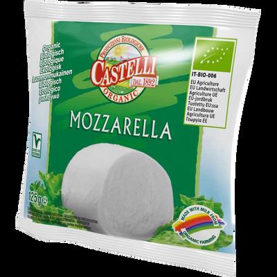 Mozzarella bio au lait pasteurisé 17% de MG CASTELLI, 125g