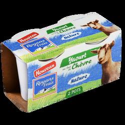 Yaourt au lait de chèvre nature ROYANS FRAIS, 2x120g